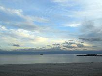ocean beach at sunset by Wolfgang Schweizer