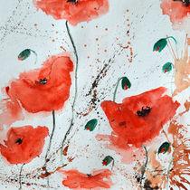 Rote Mohnblumen  by Ismeta  Gruenwald