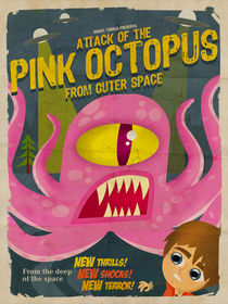 Pink octopus from outer space by daniel torres