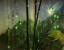 Matrix-Bamboo-Butterfly by Scott L Smith