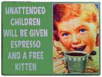 Unattended Children Shop Sign von David Pringle