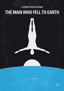 No208 My The Man Who Fell to Earth minimal movie poster von chungkong