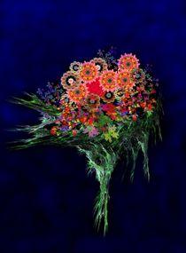 Kaleidoskop-Blüten an Apophysis-Strauß von Ingrid Eichhorst