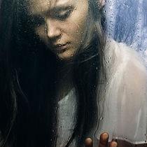 watching the rain by Vladimir Serov
