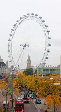 London Eye mit Big Ben von visual-artnet