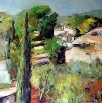 Landschaft in der Provence by Ellen Fasthuber-Huemer