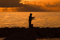 Dawn Fishing, Montagu Bay, Nassau, Bahamas by Shane Pinder