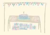 Happy Birthday Table in Pastels by Tasha Goddard