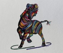Kaleidoscope Zebra - Baby Strut Your Stuff von eloiseart