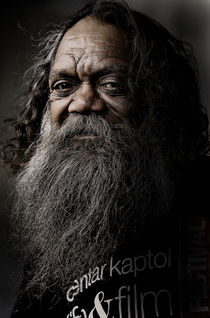 Australian full blood aborigine by Sheila Smart