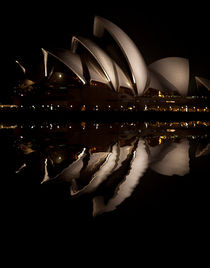 Sydney Opera House night reflection by Sheila Smart