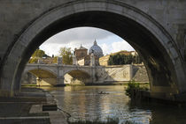 Rome - Ponte Sant Angelo with Vatican by aremak