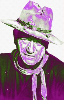 John Wayne in The Man Who Shot Liberty Valance by Art Cinema Gallery