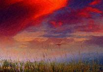 Poesie des Lichts - Der Abendsonne entgegen von Eckhard Röder