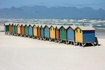 southafrica ... muizenberg beach huts III von meleah