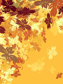 Gold Autumn Leaves von moonbloom