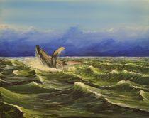 'Springender Wal' von Peter Schmidt