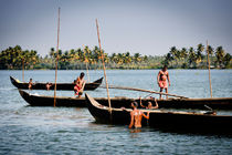 Mussels Pickers in the Kerala Backwaters. by Tom Hanslien
