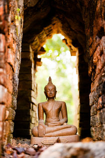 Buddha figurine in Alcove. by Tom Hanslien