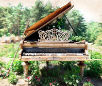 The old piano by Leopold Brix
