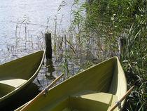 Zwei Boote am Ufer des Sees von Eva-Maria Di Bella