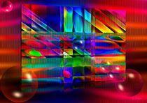 Grafisches Farbenspiel mit Kugeln von Eckhard Röder