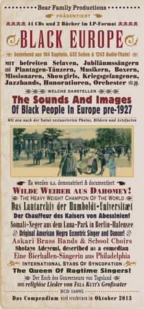 Black Europe Poster von Mychael Gerstenberger