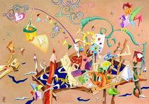 La Stanza dei Giocattoli - Crayon Art Collage - Livre pour Enfants by nacasona