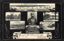 Jugendstil Bild Kiel, Kriegshafen, Markt, Prinz Heinrich by arkivi