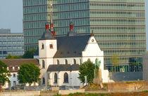 Kirche Alt-St. Heribert vor dem Lanxess-Tower, Köln Cologne von Eva-Maria Di Bella