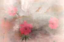 PINK FLORAL ABSTRACT von tomyork