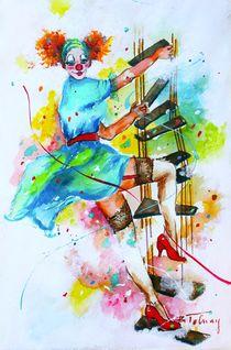 Clownesse Mimi von Barbara Tolnay
