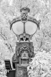 Jugendstillampe beim Mannheimer Wasserturm von Walter Layher