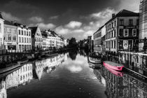 Reflections over Ghent with pink by Rob Hawkins