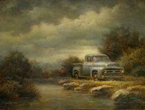 Truck by a Stream by Paul Abrams