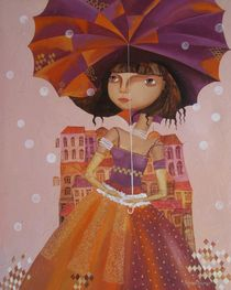 Umbrella girl von Yelena Dyumin