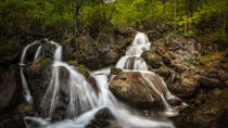 The Waterfalls at Myrafalle in Austria IV. by Zoltan Duray