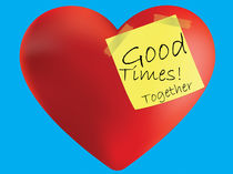 Good Times Together Heart by Diane Langenstrass