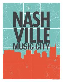 Nashville Music City by 716designs