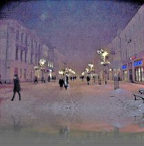 Snowy Night In Lublin  von Rick Todaro