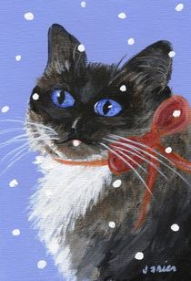 Christmas Siamese by Jamie Frier