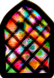 Spiral Stained glass window with Stars! von rachelevansdesigns