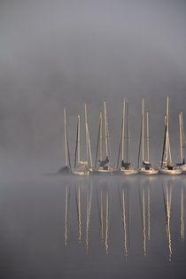 'Segelboote im Nebel' by Bernhard Kaiser