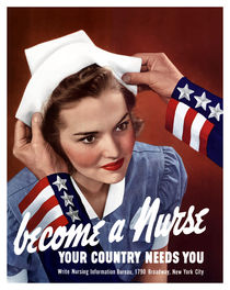 207-105-become-a-nurse-ww2-poster