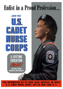 Enlist In A Proud Profession Join The U.S. Cadet Nurse Corps von warishellstore