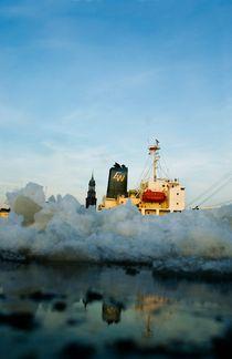 Frachter im Eis von Marcus Krauß
