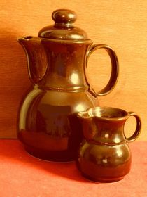 Rustic coffee pot with milk jug by techdog