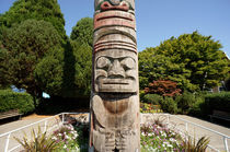 Totem Pole Face Vancouver by John Mitchell