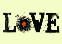 Love Vinyl Records - Grunge Vintage - Music DJ by Denis Marsili