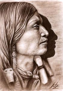 Indianerprofil-kohle-mittel
